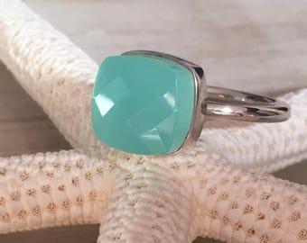 PLETO ring - Aqua Calcidon (light green)