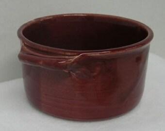 Deeply Pink Porcelain Casserole or Serving Dish