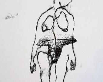 Original Monoprint - Nature/connection