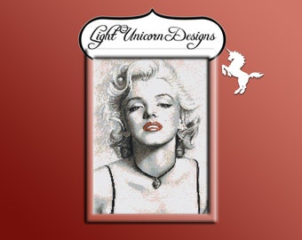 Marilyn Monroe Red Lips Cross Stitch Pattern