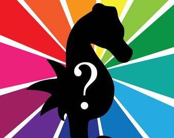 Custom Color Seahorse - Felt Seahorse Plush - Your Color of Choice