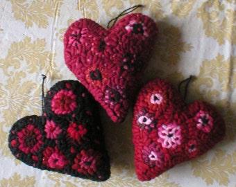 Farmhouse Decor One Primitive Penny Hooked Rug Heart Rue23paris Farmhouse Collectibles