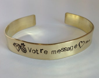 Large personalized ring