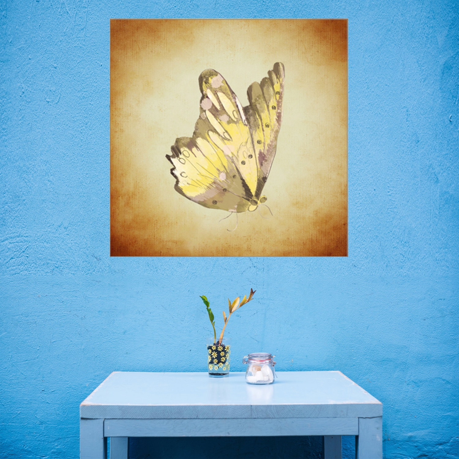 Monarch Butterfly Canvas Art Print, Insect Wall Art, Butterfly ...