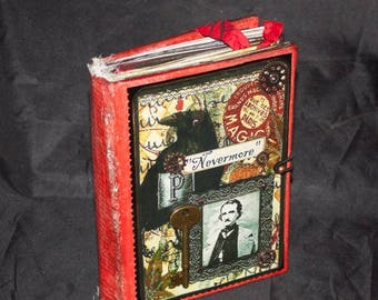 NEVERMORE....A Handmade Iournal Tribute to Edgar Allan Poe,  5x7, 208 Pages
