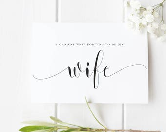 Wife wedding card Wedding Day card for new wife, wife proposal card, wedding card for bride, card from groom to bride