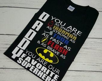 Daddy Superhero Shirt