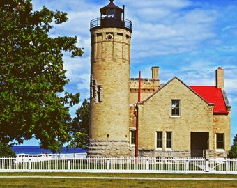 Mackinac Bridge Light House