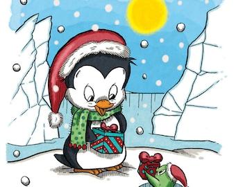 Merry Christmas, Fishy (DIGI STAMP)