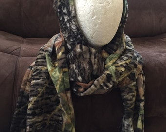 Camo Hooded Scarf