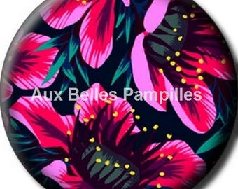 Round cabochon resin 25 mm - summer scent stick (1156) - flower, floral, nature