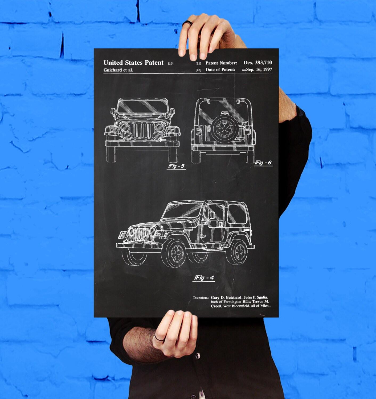 Jeep art poster jeep patent jeep print jeep art jeep sale details malvernweather Choice Image