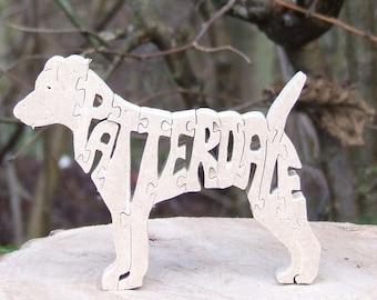 Patterdale Terrier dog jigsaw , Patterdale ornament, Patterdale puzzle, Patterdale gift, Patterdale memorial,gift dog lover
