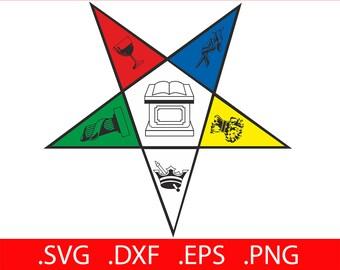 Eastern Star SVG Masonic Eastern Star SVG OES Eastern Star Svg
