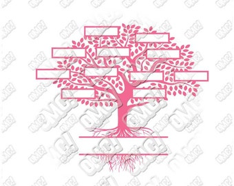 Family Tree svg dxf eps jpeg format layered cutting files download clipart screen print die cut decal vinyl cutter cricut silhouette