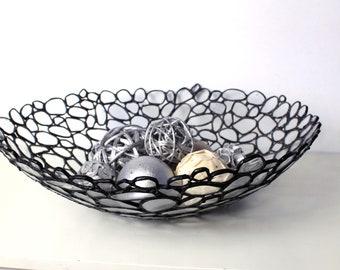Contemporary Decorative Glass Bowl - Handmade Stained Glass - Home Decor - Sculptural Glass