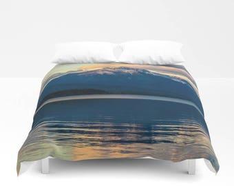 Mountain Duvet Cover, Mountain Bedding, Mountain Bedroom, Lake Bedding, Nature Bedding, Dorm Room Decor, Nature Duvet Cover