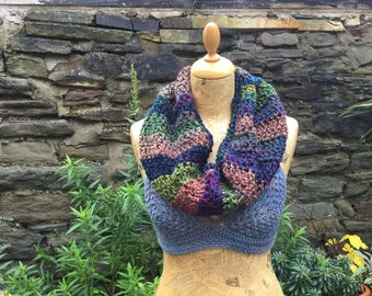 Extra Soft Infinity Cowl Scarf, Crochet, Circle Scarf, Tube Scarf, Snood, Scoodie