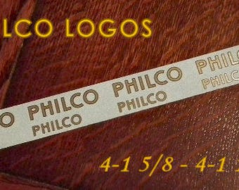 Philco Logo Decals Set of 8 for Vintage Radios & More - Waterslides