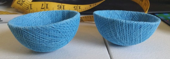 medium blue string bird nests twine bowls art crafts supplies decoration nature crafts