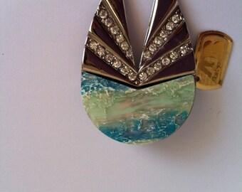 Brooch, vintage brooch, odd brooch, brooch stones, brooch woman, gift