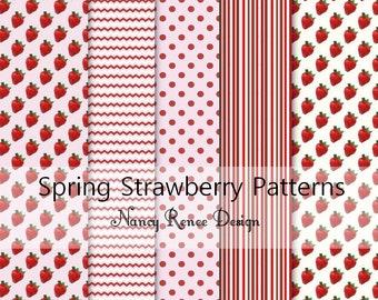 Spring Strawberry Patterns