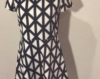 Black & White Geo Knit Dress