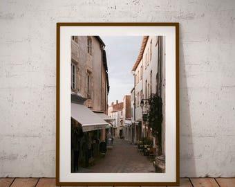 Ile de Re Photography, Saint-Martin-de-Ré, French Village, Fine Art Photography, Printable Color, Digital Download