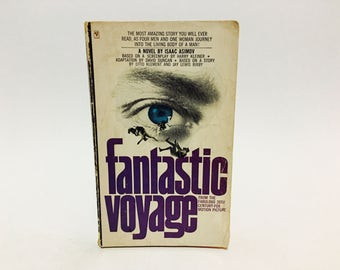Vintage Sci Fi Book Fantastic Voyage by Isaac Asimov 1966 Edition Paperback Novelization Classic