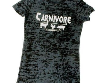 Women's Burnout Carnivore Tee Shirt