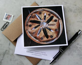 Fowl Weather ~ Mandala Card ~ One 5x5 Square Note Card (with envelope, blank inside, no message)