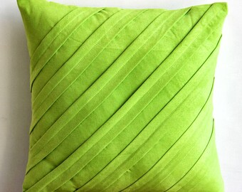 Decorative Throw Pillow Covers Couch Pillow Sofa Pillow 20 Inch Suede Pillow Cover Home And Living Decor And Housewares -Contemporary Lime
