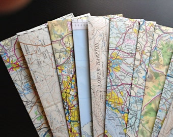Vintage British map envelopes (8)