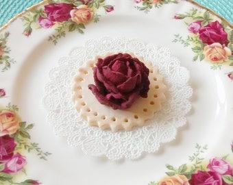 "Royal Icing Deep Wine Roses 1/2"" + ... ReAdY To ShIp !"