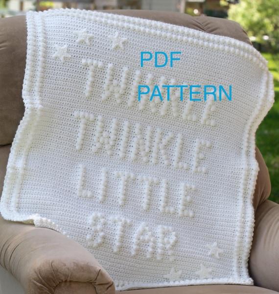 Twinkle Twinkle Little Star Crochet Baby Blanket Pattern