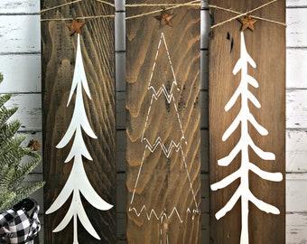 Christmas Tree Sign - Primitive Christmas Trees - Rustic Christmas Trees - Wood Tree Signs - Farmhouse Christmas - Primitive Christmas