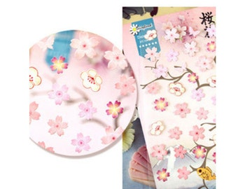 Japanese Cherry Blossom Stickers, Sakura Stickers