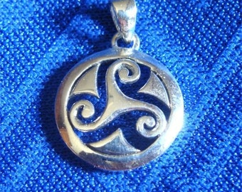 CELTIC Triskele Pendant to Bring GOOD Tidings in STERLING Silver