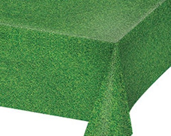 Grass like Party Tablecloth / football party / Men party / dude party / farm tablecloth / horse party/ soccer party/ golf party