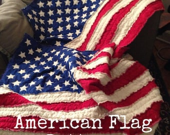 American Flag Rag Quilt Pattern