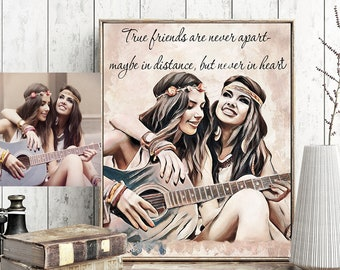 best friend gift best friend birthday gifts for her gift for sister gift women gift personalized custom portrait best friend gift ideas