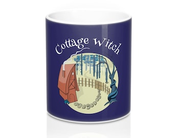 Cottage Witch Unique Witchy Kitchen Witch Coffee Mug 11Oz