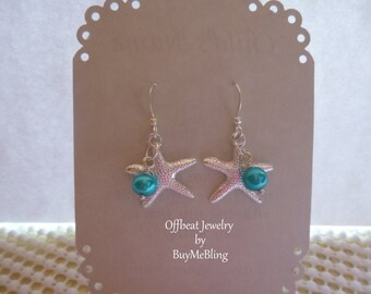 Beach Wedding Earrings, Starfish Wedding Jewelry, Sand Dollar Beach Jewelry, Seahorse Earrings, Flip Flop Jewelry,Pearl Beach Jewelry,
