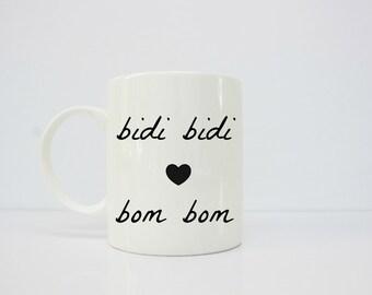 Selena Quintanilla - bidi bidi bom bom mug - selena - como la flor - latina - latina art - taza de cafe
