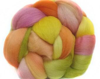 CORRIEDALE roving top handdyed wool spinning fiber 3.5 oz