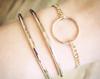 Nalukea cuff bracelet - gold bracelet, gold bracelet cuff, stackable bracelet, gold filled bracelet, gold bracelet, bangle, hawaii bracelet