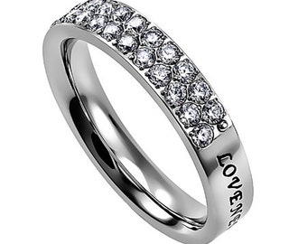 """Covenant Ring """"Love Never Fails"""""""