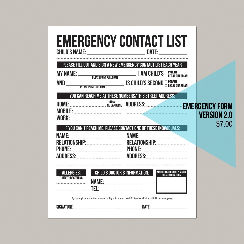 emergency contact list for home - Salah.ukraeroproject.com