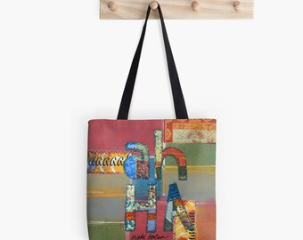 Tote Bag, Festival Bag, Carry All, Craft Bag, Back to School Supplies, Going Off to College Gifts, Holiday Gifts for Students, Market Tote