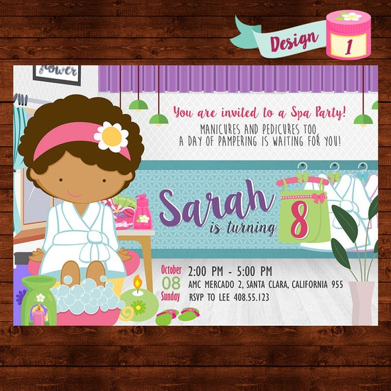Spa party invitation spa birthday party girls spa party spa party invitation spa birthday party girls spa party invite kids spa party spa party printable spa birthday invite pamper party filmwisefo Image collections